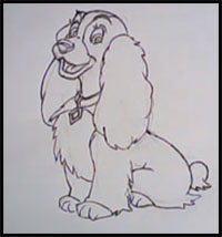 How To Draw Disney S Lady And The Tramp Cartoon Characters Drawing Tutorials Drawing How To Draw Disney S Lady And The Tramp Illustrations Drawing Lessons Step By Step Techniques For