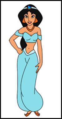 How to Draw Disney's Aladdin Cartoon Characters : Drawing Tutorials