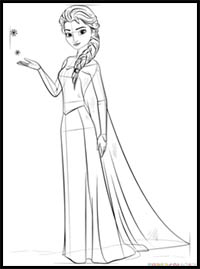 How To Draw Disney S Frozen Cartoon Characters Drawing Tutorials Drawing How To Draw Disney S Frozen Illustrations Drawing Lessons Step By Step Techniques For Cartoons Illustrations