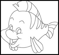 How To Draw The Little Mermaid Cartoon Characters Drawing Tutorials Drawing How To Draw The Little Mermaid Illustrations Drawing Lessons Step By Step Techniques For Cartoons Illustrations