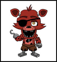 How To Draw Five Nights At Freddy S Video Game Characters Drawing