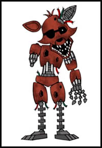 How To Draw Five Nights At Freddys Video Game Characters