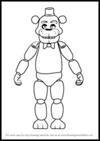 How to Draw Five Nights at Freddy's Video Game Characters