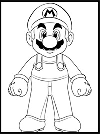 How To Draw Super Mario Bros Characters Mario Luigi Bowser