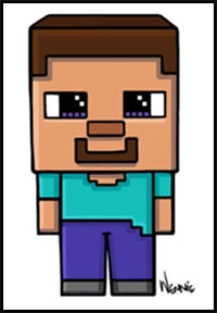 How To Draw Minecraft Video Game Characters Drawing Tutorials