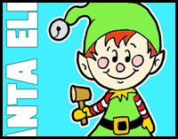how to draw cartoon christmas elf - How To Draw A Christmas Elf