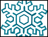 how to draw snowflakes with easy steps - Patterns For Kids To Draw