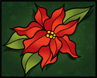 How to Draw a Christmas Flower
