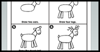 How to Draw Reindeer with Easy Step by Step Winter & Christmas Drawing ...