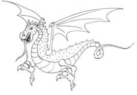 how to draw a cartoon bearded dragon