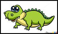 how to draw a cute crocodile