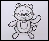 How to Draw Cartoon Groundhogs & Realistic Groundhogs ...