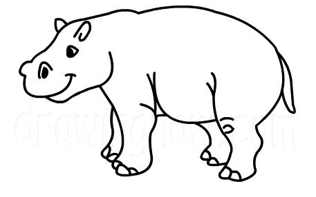 Gallery For gt Hippopotamus Drawing Kids
