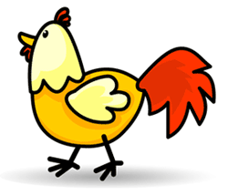 how to draw a simple and stylish cartoon chicken