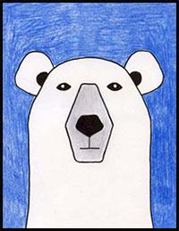 learn how to draw a polar bear