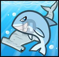 How To Draw Cartoon Sharks Realistic Sharks Drawing Tutorials