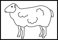 how to draw a sheep step by step for kids