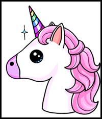 How To Draw Cartoon Unicorns Realistic Unicorns Drawing