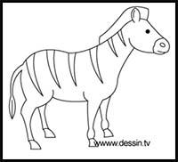 How To Draw Cartoon Zebras Realistic Zebras Drawing Tutorials