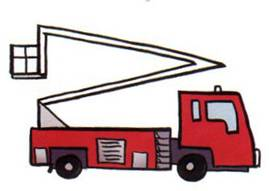 how to draw fire trucks