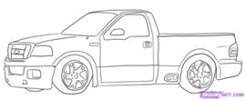 How To Draw Ford Lighting Pick Up Trucks