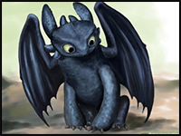 Toothless Dragon Drawing