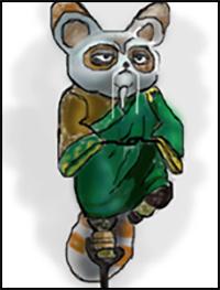 How to Draw Kung Fu Panda Cartoon Characters : Drawing ...