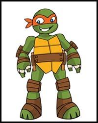 How To Draw Teenage Mutant Ninja Turtles Cartoon Characters
