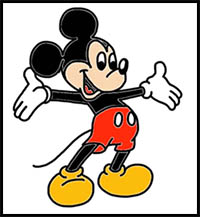 How To Draw Mickey Mouse Clubhouse Cartoon Characters Drawing