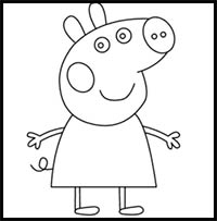 How To Draw Peppa Pig Cartoon Characters Drawing Tutorials