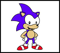 How To Draw Sonic Hedgehog Cartoon Characters Drawing Tutorials Drawing How To Draw Sonic Hedgehog Comics Sonic Illustrations Drawing Lessons Step By Step Techniques For Cartoons Illustrations