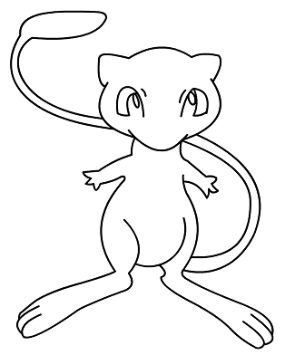 How To Draw Easy Pokemon Sketch Coloring Page