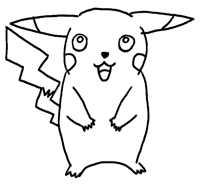 how to draw Pikachu in ten steps! This free onlinecartoon-drawing ...
