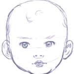 drawing babies lessons how to draw a cartoon baby s head body