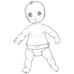 How to Draw a Baby : Drawing Babies Step by Step Lesson