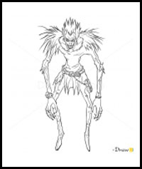 How To Draw Death Note Characters Death Note Drawing
