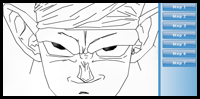 how to draw piccolo face