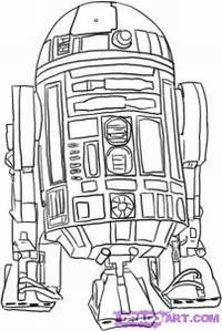 How To Draw R2-D2 from Star  R2d2 Drawing