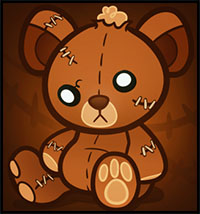 How to Draw a Stitched Teddy Bear