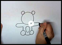 How to Draw a Teddy Bear Step by Step Easy Tutorial - YouTube
