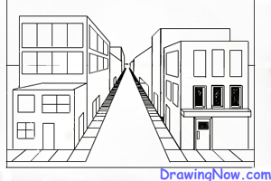 Perspective Drawings Of Buildings one point perspective drawing lessons : how to draw figures and