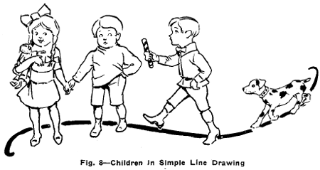 simple line drawing of children - Simple Drawing For Children