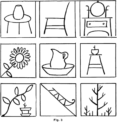 additional drawings of objects that are familiar to your enclosing each object in a square