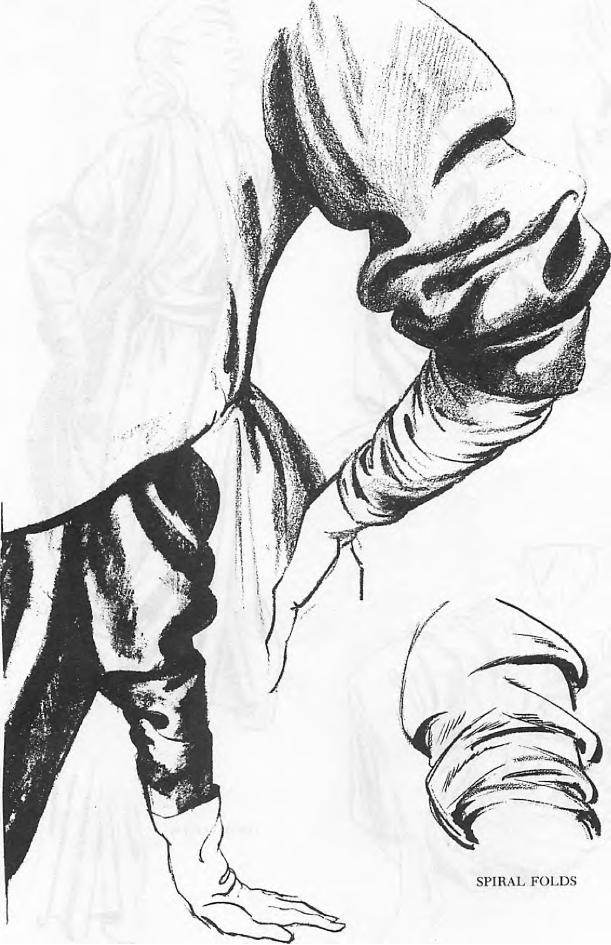 how to draw sleeve wrinkles