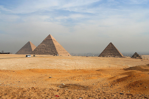 The pyramid can be a church steeple or the pyramids of Egypt.