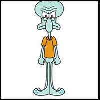 How to Draw Squidward Tentacles from Spongebob Squarepants