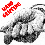 Draw a Hand Gripping Items