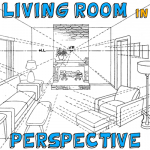 How to Draw The Inside of a Room in 3 Point Perspective