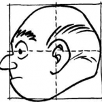 Drawing Comic Human Faces / Heads with the Boxed Grids Method