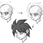 How to Draw Anime Hair : Drawing Manga Hair Lesson